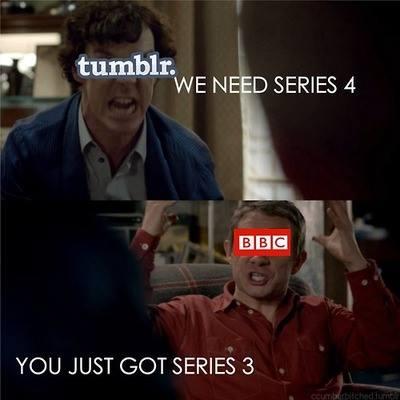 Tumblr vs BBC Sherlock