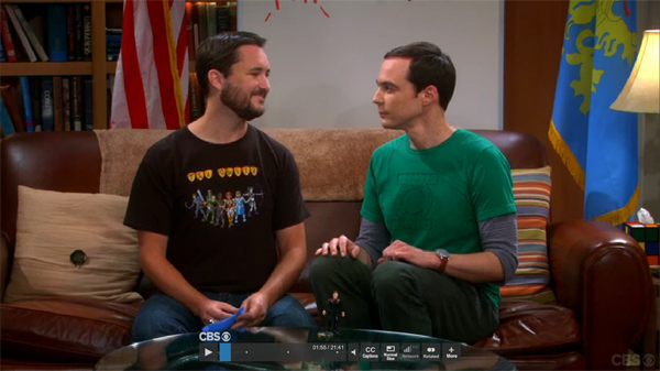 wil wheaton and sheldon cooper