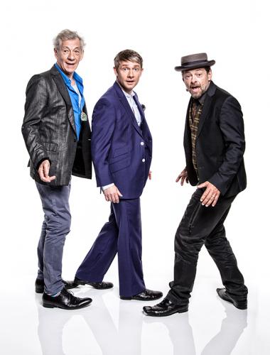 Serkis, McKellen, and Freeman