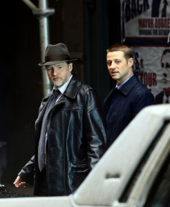 "Ben McKenzie and Donal Logue on the set of ""Gotham"""