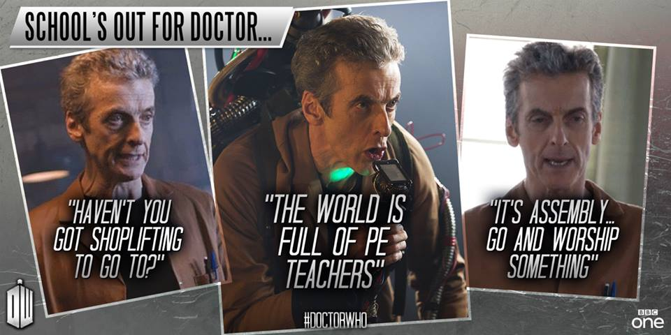 School's out for Peter Capaldi Doctor