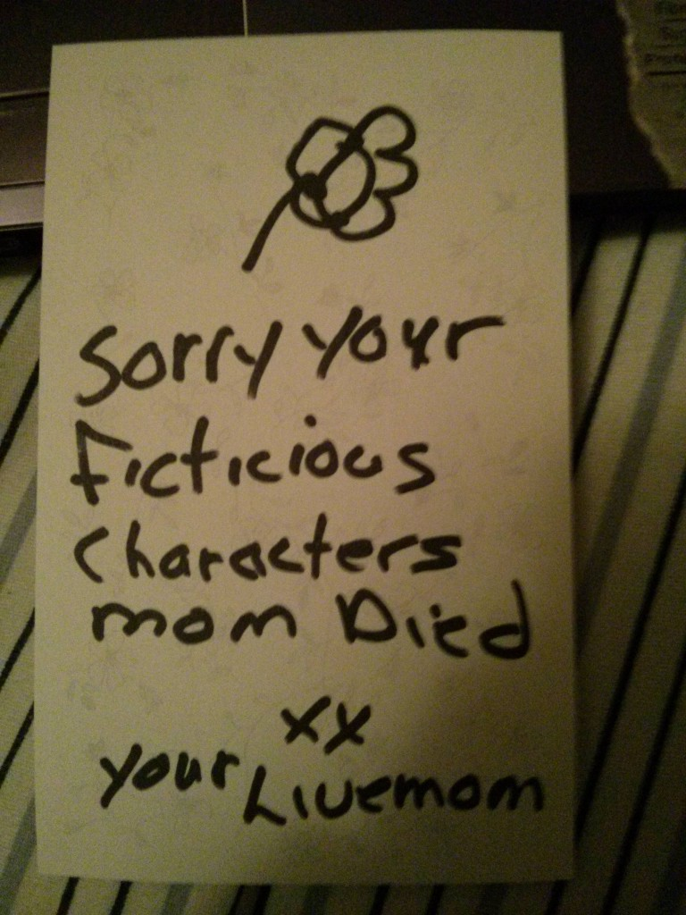 Sorry Your Fictitious Characters Died