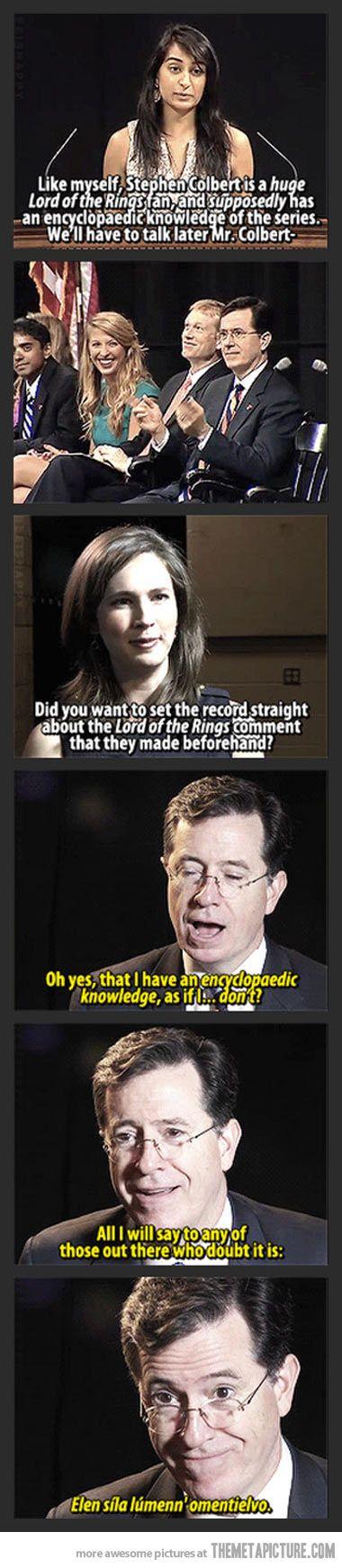 Stephen Colbert LOTR